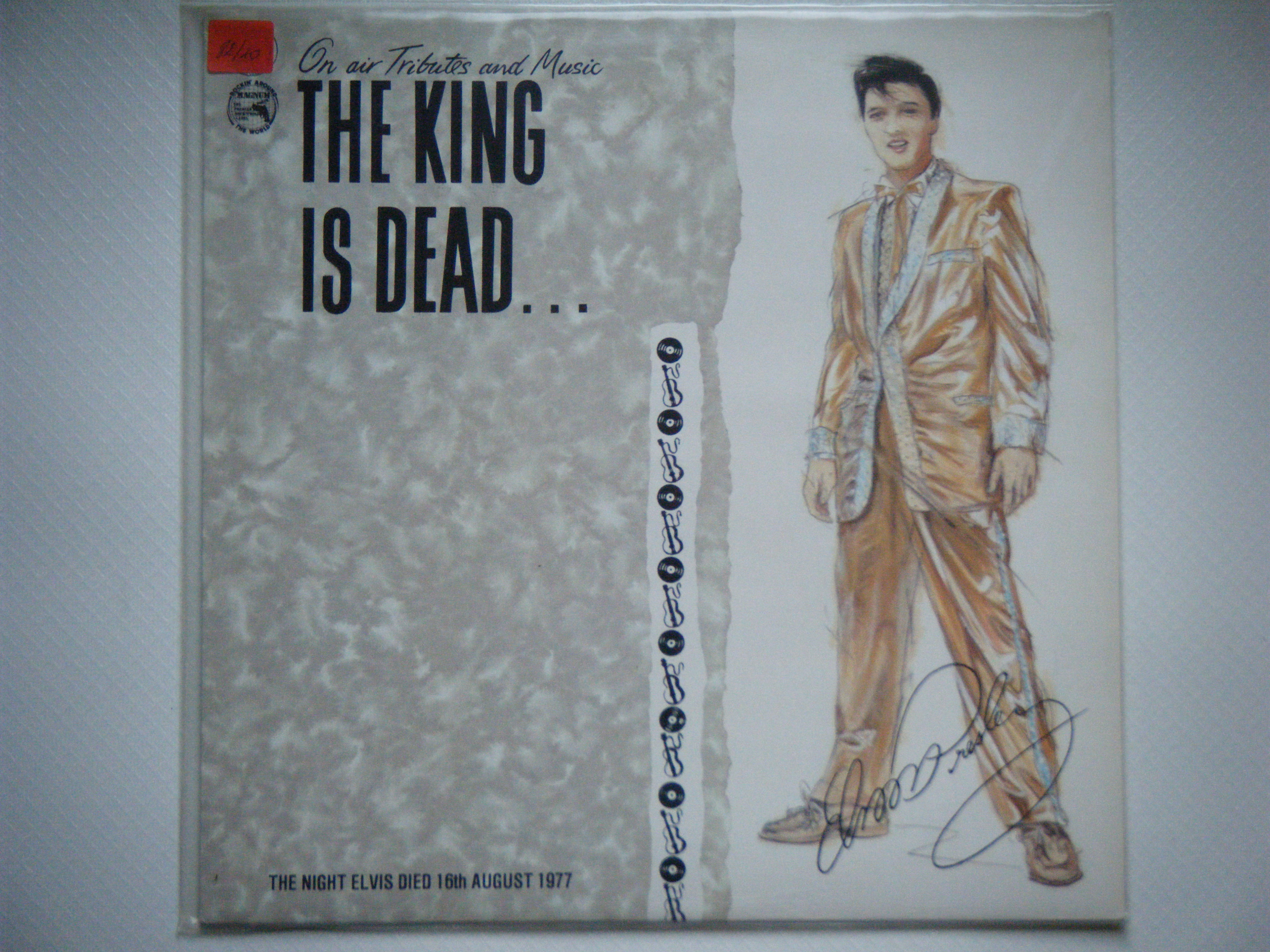 33t elvis the king is dead on air tributes and music - Bac a vinyl ...